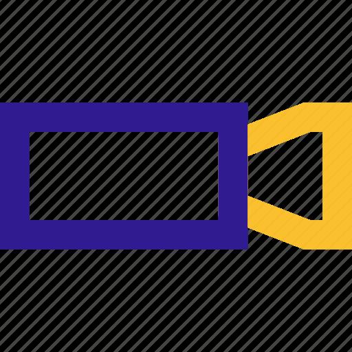 basic, camera, line, ui, video icon