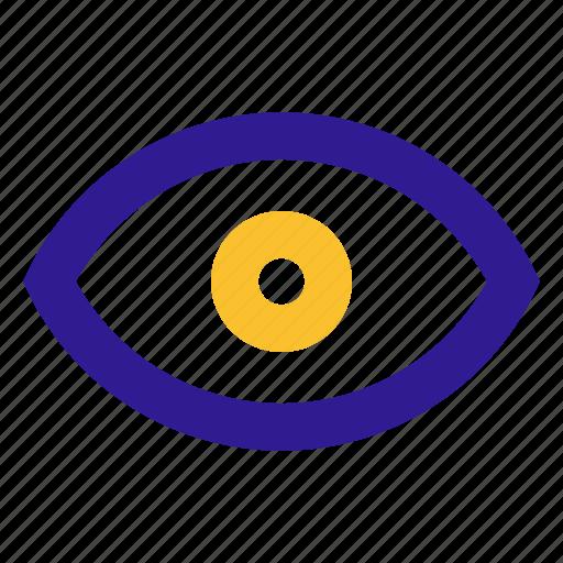basic, eyes, line, show, ui icon