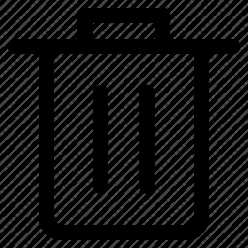 app, interface, internet, trash, user, web icon