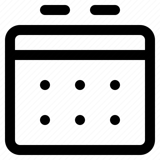 app, calendar, interface, internet, user, web icon
