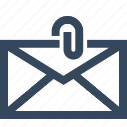 attachment, email, email attachment, envelope, mail attachment, paper clip icon