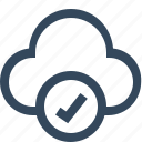 approve cloud, cloud, cloud accept, cloud computing, cloud ok, cloud service, cloud status icon