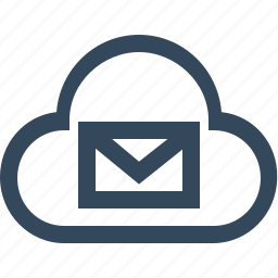 cloud, cloud email, cloud mail, cloud message, cloud notification, cloud server, mail cloud icon