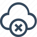 close cloud, cloud remove, delete cloud, remove cloud icon