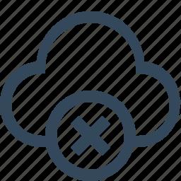 close cloud, cloud remove, delete cloud, remove cloud icon