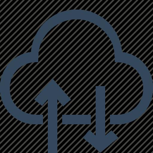 cloud, cloud download, cloud storage, cloud upload, download, download from cloud, upload icon