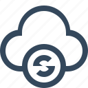 cloud refresh, cloud reset, cloud sync icon