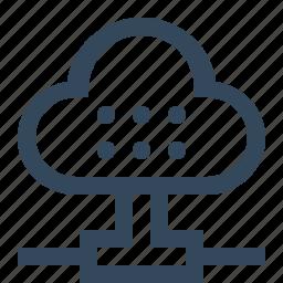 cloud, cloud computing, cloud network, cloud server, cloud sharing, network, network sharing icon