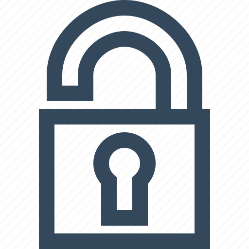 open, released, unlock, unlocked, unsecured icon