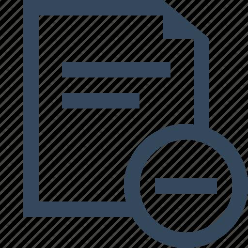 delete file, file, remove file icon