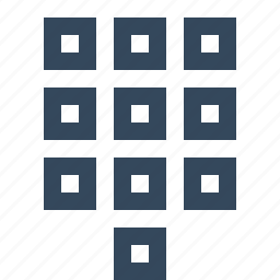 dialer, dialpad, grid, number dial icon