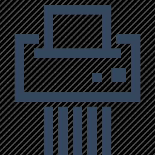 cut, document, paper, shredder icon
