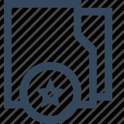 bookmark, favorite, favourite, folder, stared folder icon