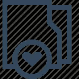 bookmark, favorite, favorite folder, folder, heart, like icon