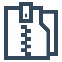 archieve, archive, compressed, folder, zip, zip folder icon