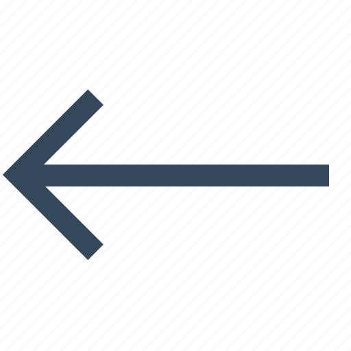 arrow, direction, left, left arrow, move icon
