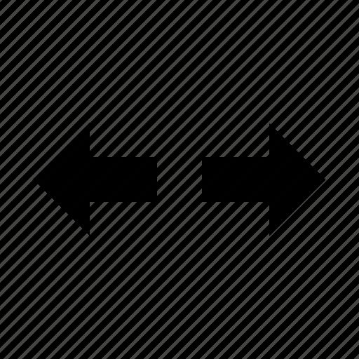 arrow, controls, expand, horizontal, interface icon