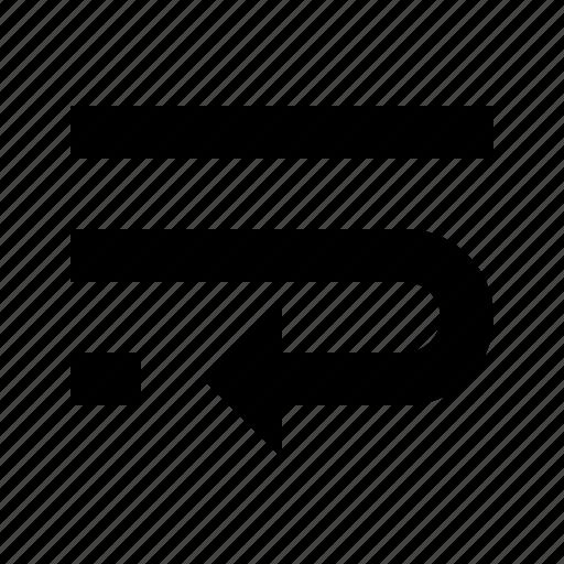controls, flow, interface, text, wrap icon