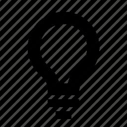 bulb, controls, idea, interface, light icon