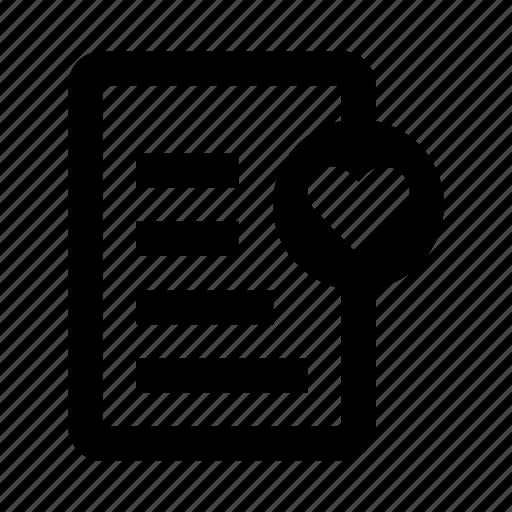checklist, favorite, favourite, heart, notes, wishlist icon