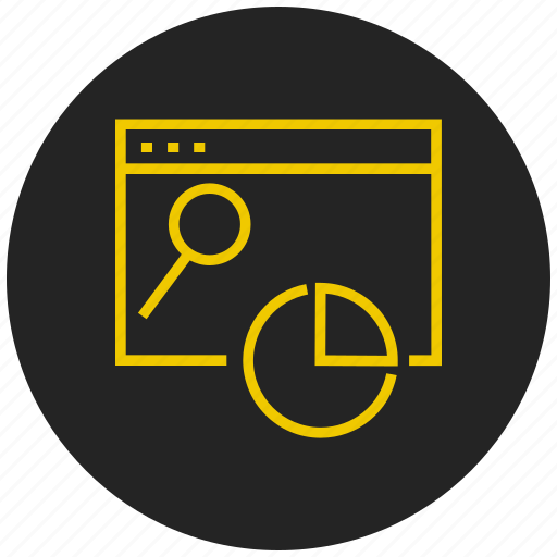 evaluation, pie chart, pie graph, report, search, section, statistics icon