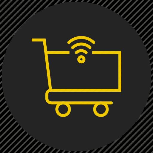 basket, buy, cart, e-marketing, ecommerce, online shopping, super market icon