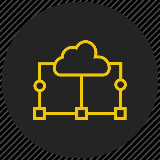 cloud services, cloud storage, data transfer, online storage, shared drive, shared services, upload icon