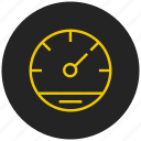 dashboard, device, indicator, pressure guage, speed test, speedometer, widget icon