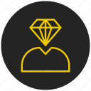 best, diamond, gemstone, jewel, luxury, premium icon