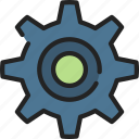 cog, industrial, options, settings, ui development