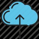 cloud, essentials, internet, server, ui development, upload icon