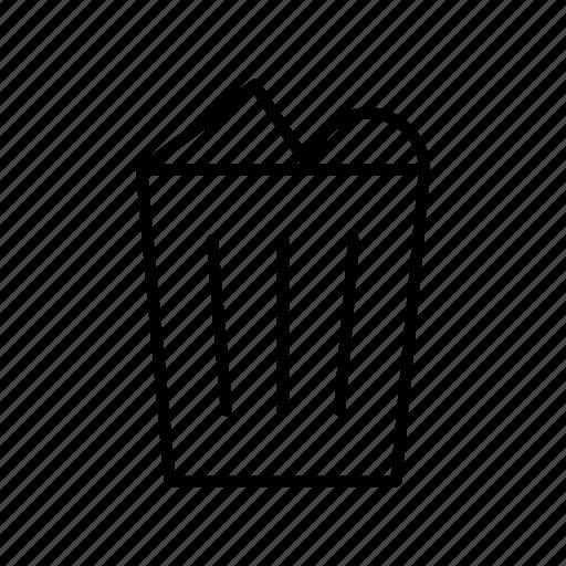 interface, trash, ui, user, ux, web icon