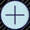 add, cross, new, plus, ui development