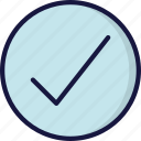 correct, good, tick, ui development, yes icon
