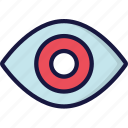 eye, see, ui development, view, visable icon