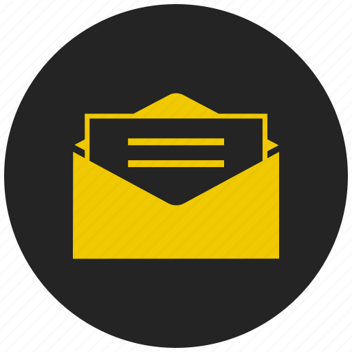 email, greeting, letter, mail, message, open mail, resume icon