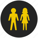 couple, family, life partner, male female, pair, party, romance icon
