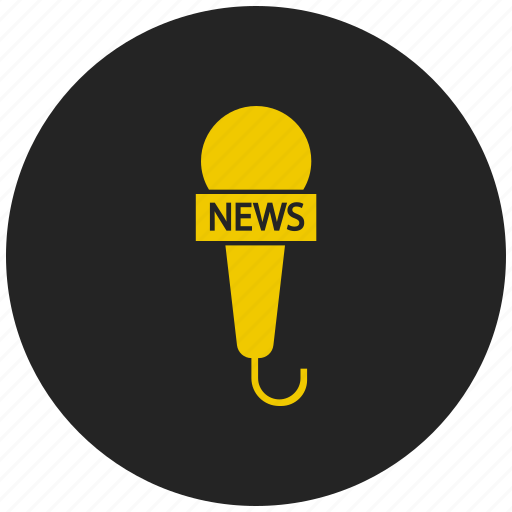 live news, news channel, news mike, record news, reporter mike icon