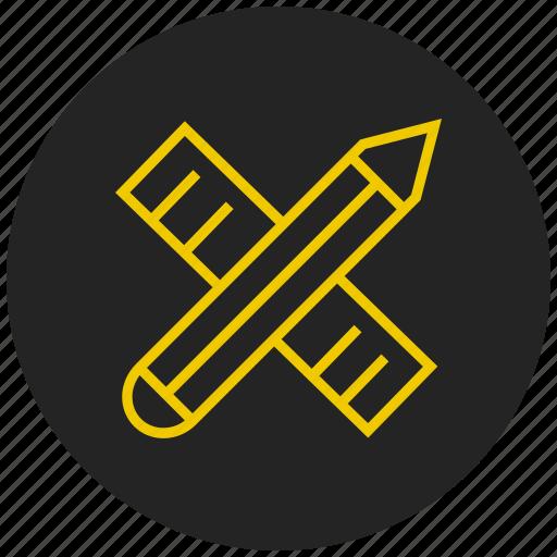 draw, drawing tools, edit, modify, pencil, ruler, write icon