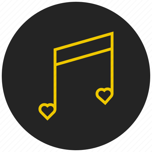 entertainment, favorite music, favorite song, love song, multimedia, musical note, romantic music icon
