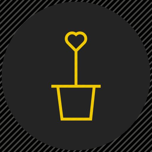 celebration, flower, love, plant, valentine icon