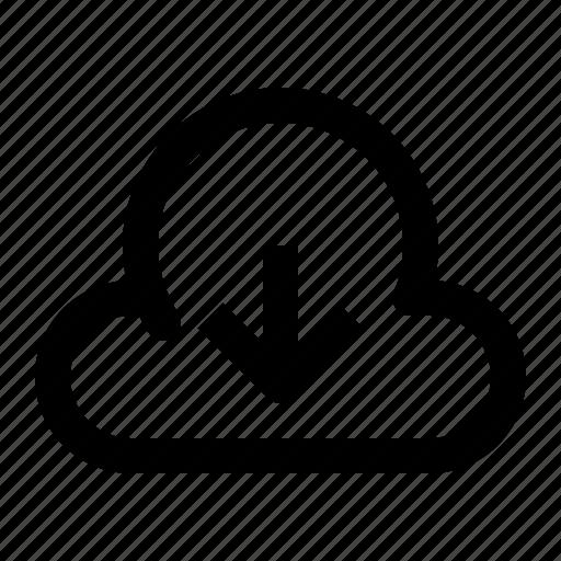 arrow, cloud, down, download, open, storage, ui icon