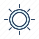 brightness, communication, contrast, sun icon