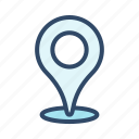 communication, location, map, pin icon