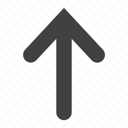 arrow, direction, location, pointer, send, up, upload icon