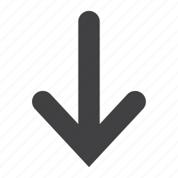 arrow, direction, down, download, guardar, location, pointer, save icon