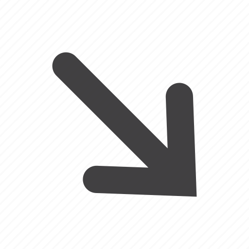 arrow, click, direction, down, pointer, right icon