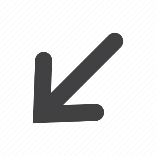 arrow, click, direction, down, left, pointer icon