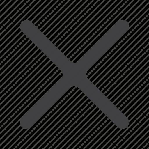 cancel, close, cross, delete, exit, no, remove icon