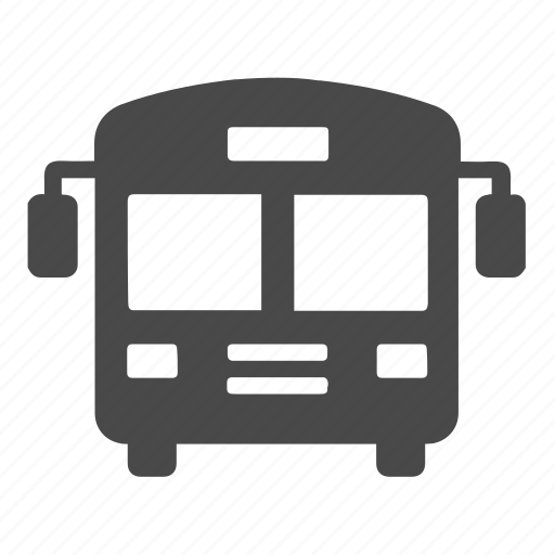 bus, city, indication, school bus, sign, transport, vehicle icon